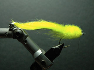Chartreuse Wheel tarpon fly