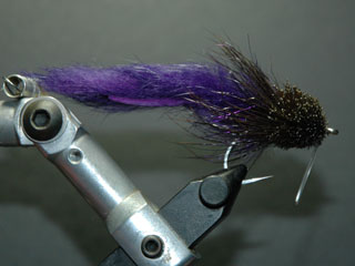 Purple muddler tarpon fly